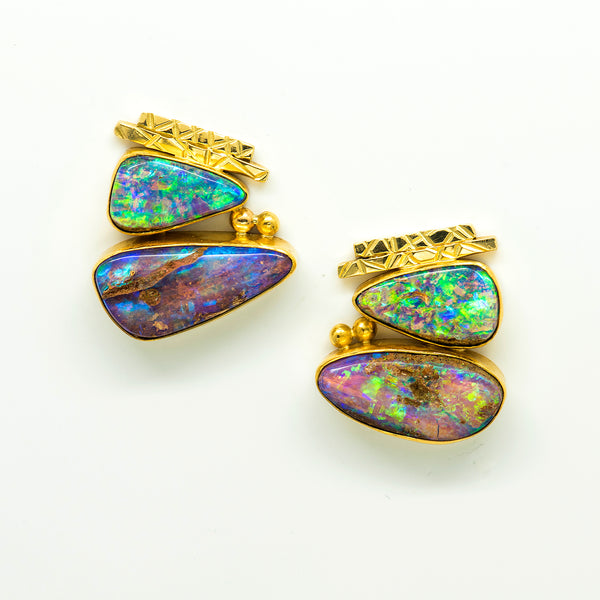 australian-boulder-opal-22k-18k-14k-gold-post-earrings-Jennifer-Kalled