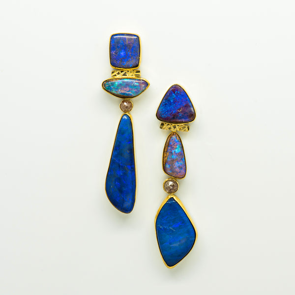 australian-boulder-opal-diamond-22k-18k-gold-post-earrings-Jennifer-Kalled
