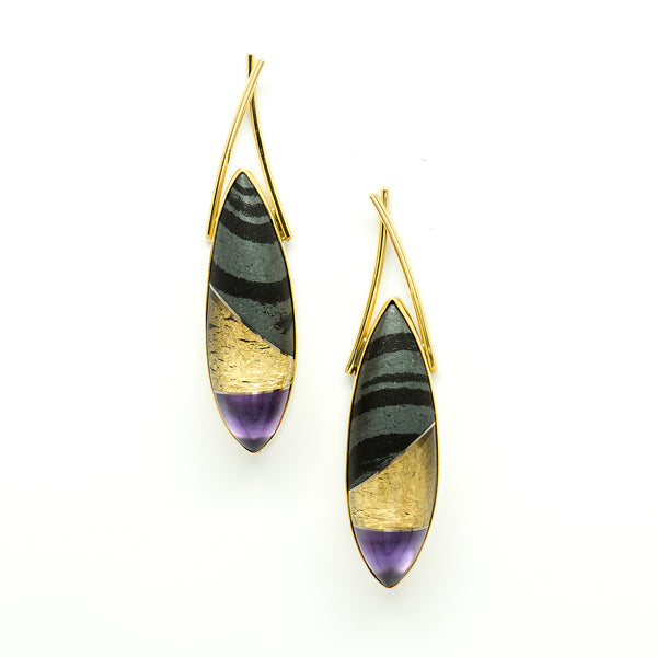 hematite-amethyst-18k-gold-22k-sterling-silver-post-earrings-Jennifer-Kalled