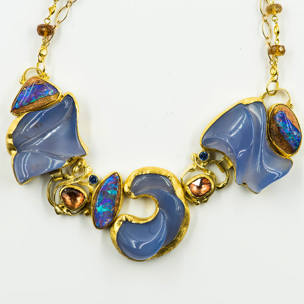 chalcedony-boulder-opal-zircon-22k-18k-14k-gold-necklace-Jennifer-Kalled