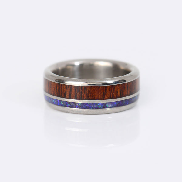 Hawaii-Titanium-Rings-wood-black-opal