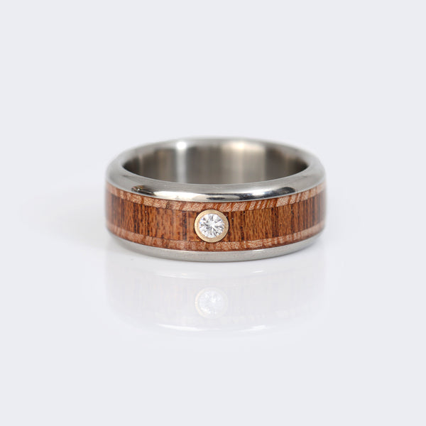 Hawaii-Titanium-Ring-wood-14k-gold-diamond