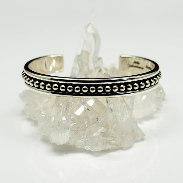 Artie-Yellowhorse-sterling-silver-beaded-cuff-bracelet-kalled-gallery