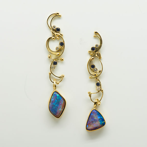 Jennifer-Kalled-australian-boulder-opal-post-earrings-22k-18k-gold