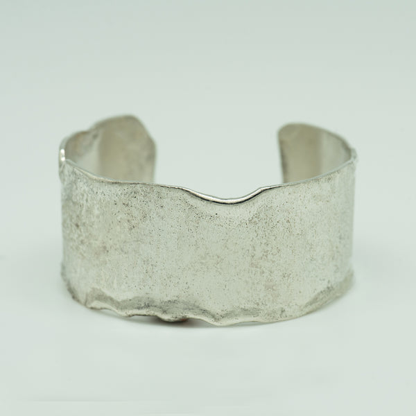 Jennifer-Kalled-melted-sterling-silver-cuff-bracelet