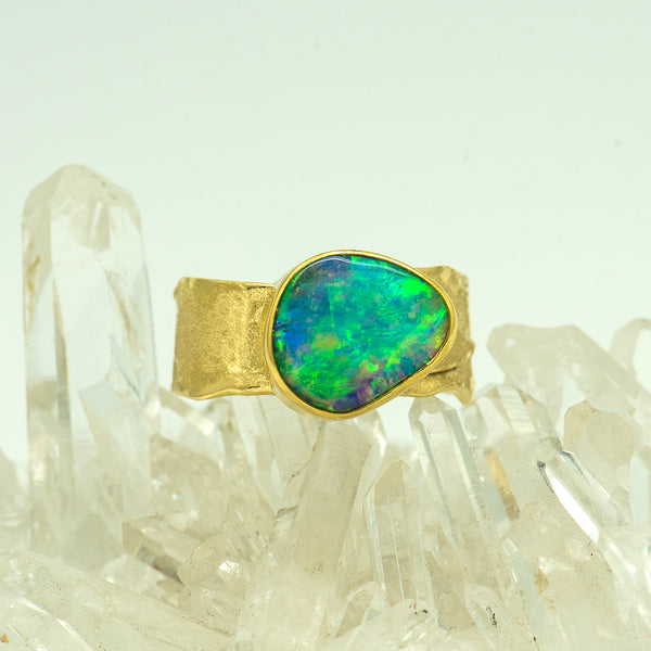 Jennifer-Kalled-australian-boulder-opal-22k-18k-gold-ring