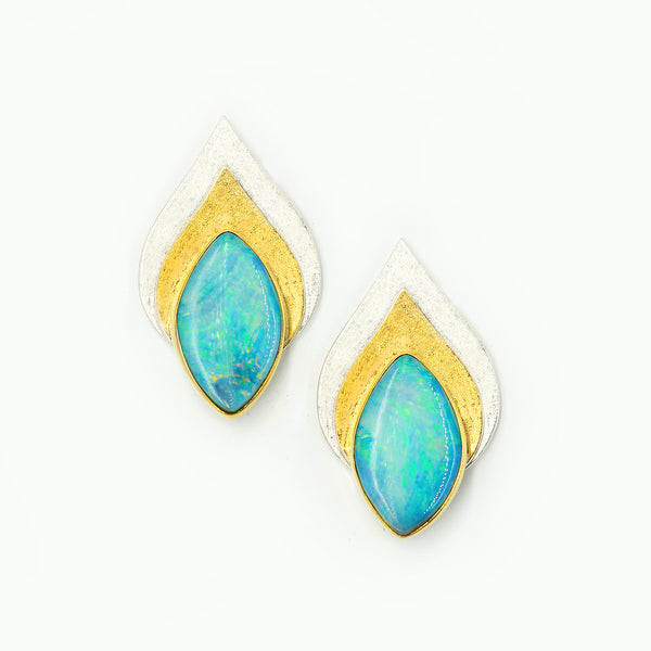australian-boulder-opal-22k-18k-bi-metal-post-earrings-Jennifer-Kalled