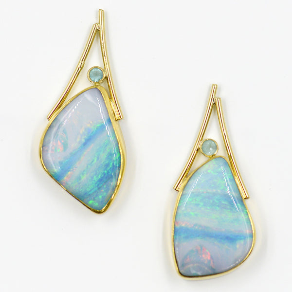 striped-boulder-opal-post-earrings-22k-gold-Jennifer-Kalled