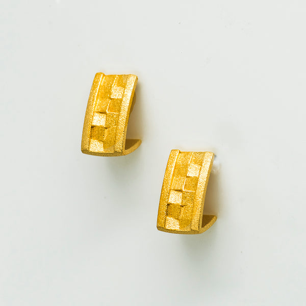 Bernd-Wolf-earrings-gold-plated-post-kalled-gallery