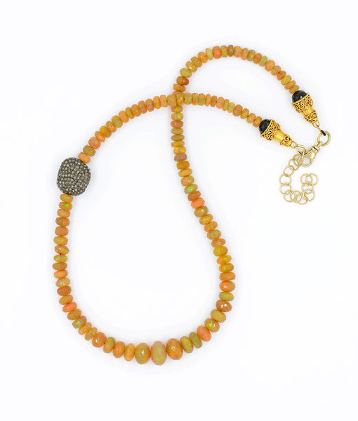 Ethiopian-opal-diamond-encrusted-bead-beaded-necklace-Jennifer-Kalled