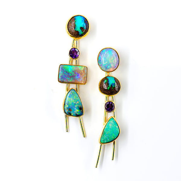 boulder-opal-amethyst-earrings-Jennifer-Kalled