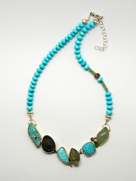 Jennifer-Kalled-ammonite-turquoise-aquamarine-zircon-necklace