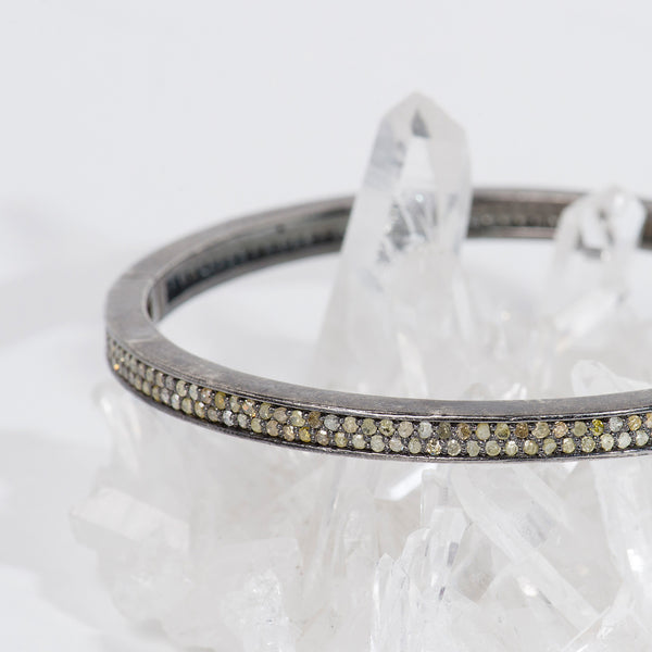 oxidized-sterling-silver-diamond-bangle-bracelet-Taj-Company