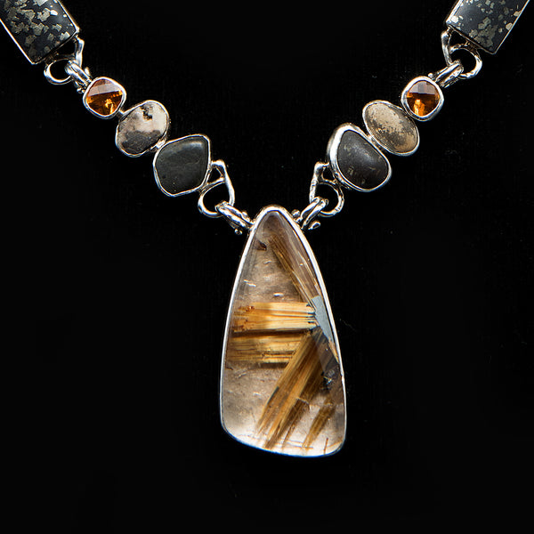 Aubri Keating Rutilated Quartz Necklace