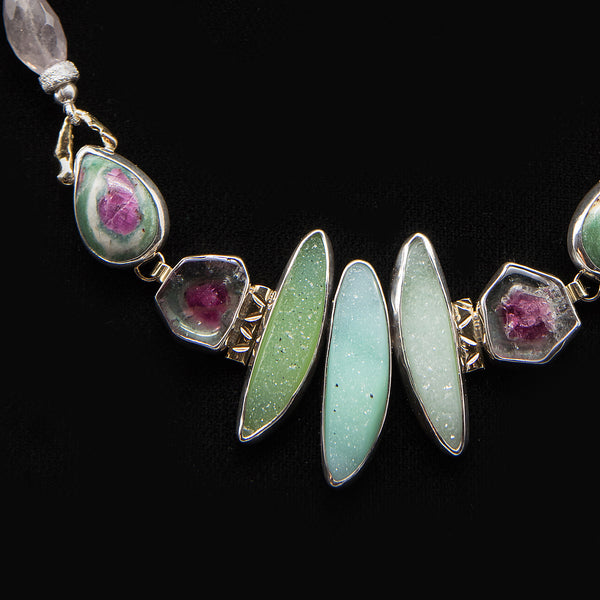 ennifer-Kalled-drusy -tourmaline-sterling-silver-necklace