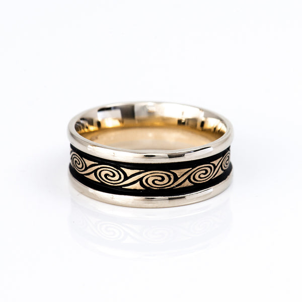 Studio-311-white-yellow-gold-rolling-moon-ring