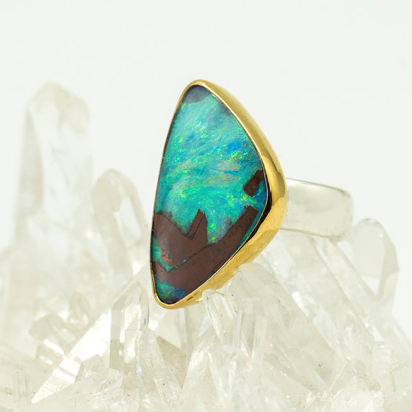 Jennifer-Kalled-australian-boulder-opal-ring-gold-kalled-gallery