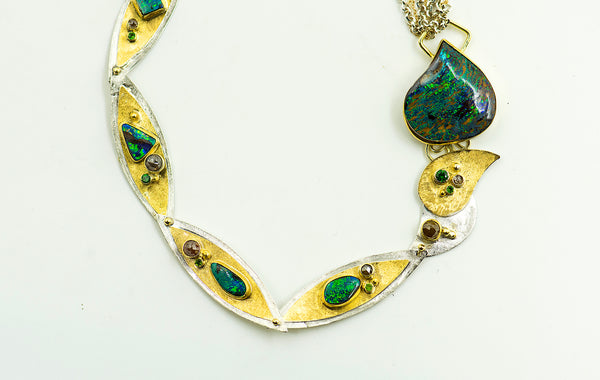 opal-australian-boulder-bi-metal-22k-gold-sterling-silver-necklace-Jennifer-Kalled