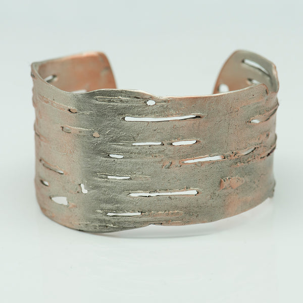 Michael-Michaud-Silver-Seasona-birch-cuff-silver-kalled-gallery