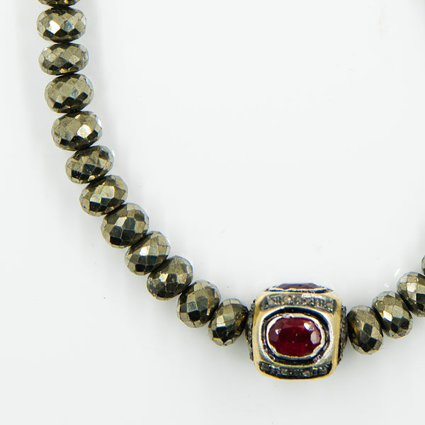 pyrite-beaded-ruby-sterling-silver-diamond-encrusted-necklace-Jennifer-Kalled