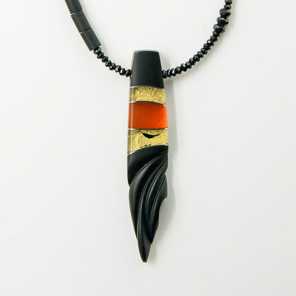 steve-walters-composite-mexican-opal-carved-black-jade-spinel-gold-Jennifer-Kalled