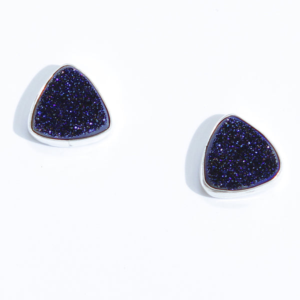 Blue Drusy Earrings