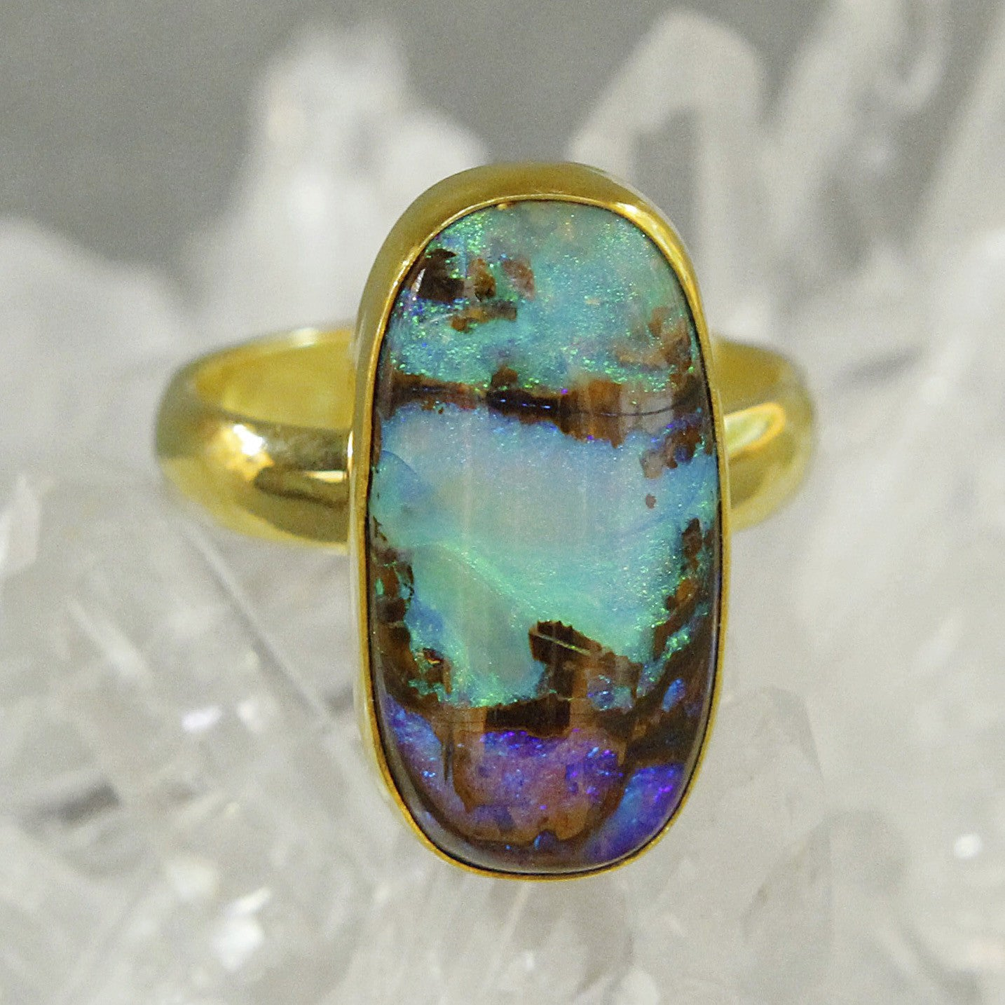 gift mexican rings ring jerezwine opal jewelry boulder matrix engagement copper