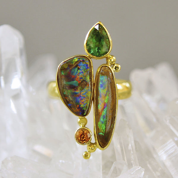 Boulder-Opal-Tsavorite-Ring-Jennifer-Kalled