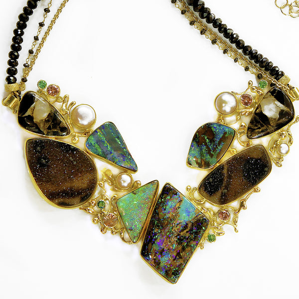 """MINK COAT"" Boulder Opal Necklace"