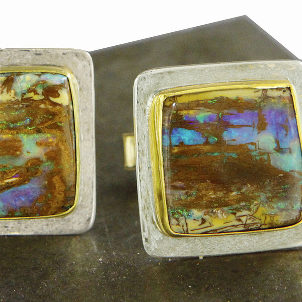 Boulder-opal-cuff-links-kalled