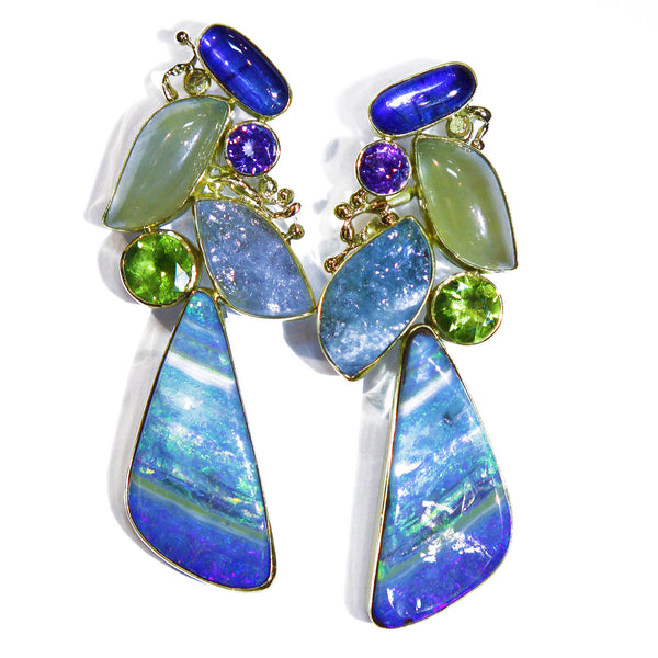 """Dancing With Angels"" Boulder Opal Earrings"
