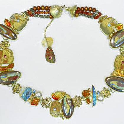 """SUN SHINY DAY DREAM"" Boulder Opal Necklace"