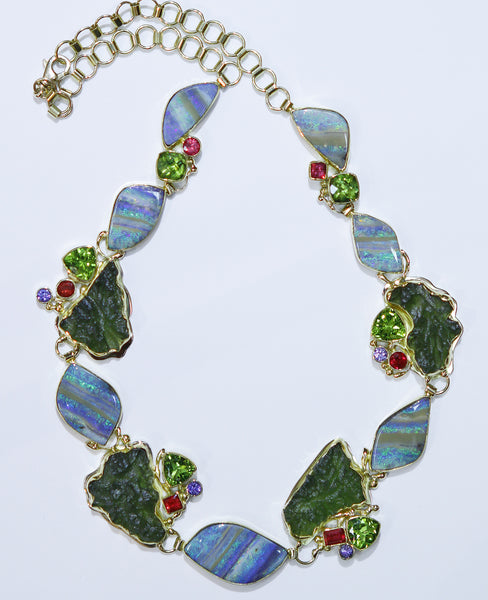 Boulder Opal Necklace Guana Cay Series