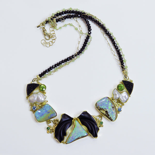 "Boulder Opal Necklace ""Hanging in the Balance"""