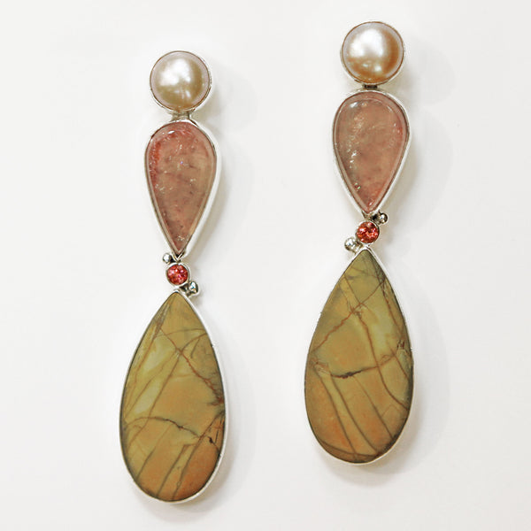 Cherry-Jasper-tourmaline-earrings-kalled