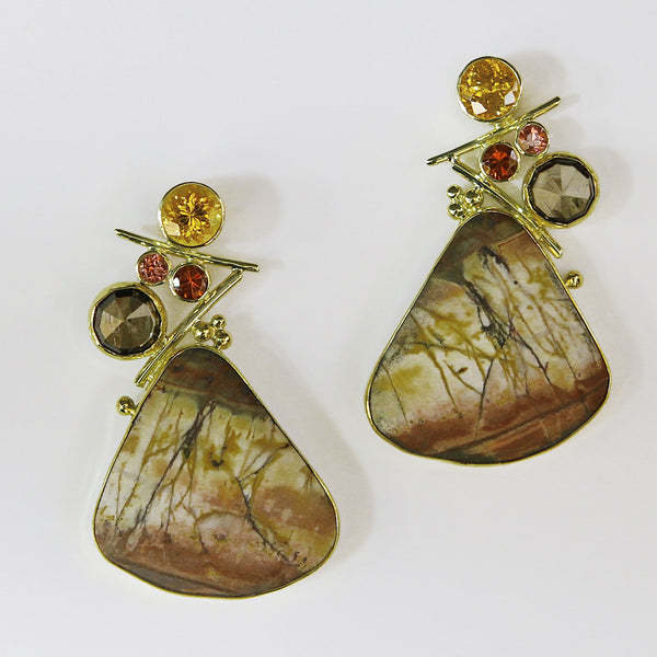 Jennifer-kalled-cherry-jasper-earrings
