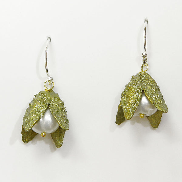 Michael Michaud Beach Nut Earrings