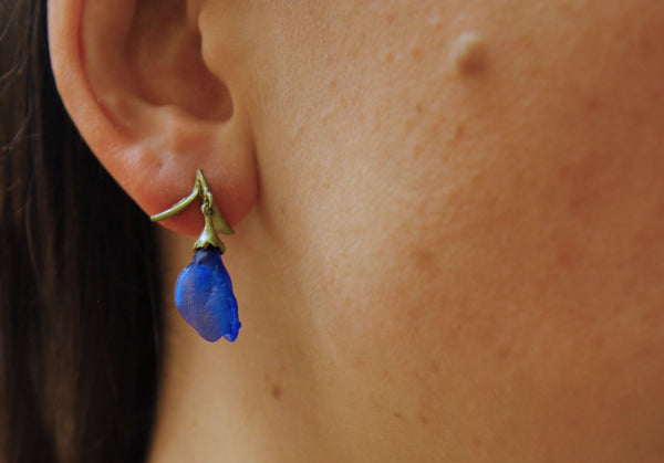 Michael-Michaud-false-indigo-earrings-model