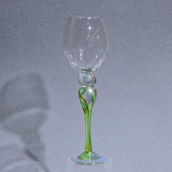 Rosetree Glass Wine Goblet in Green