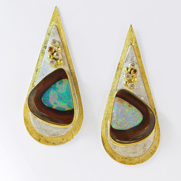 Yowah-nut-opal-earrings-gold-kalled