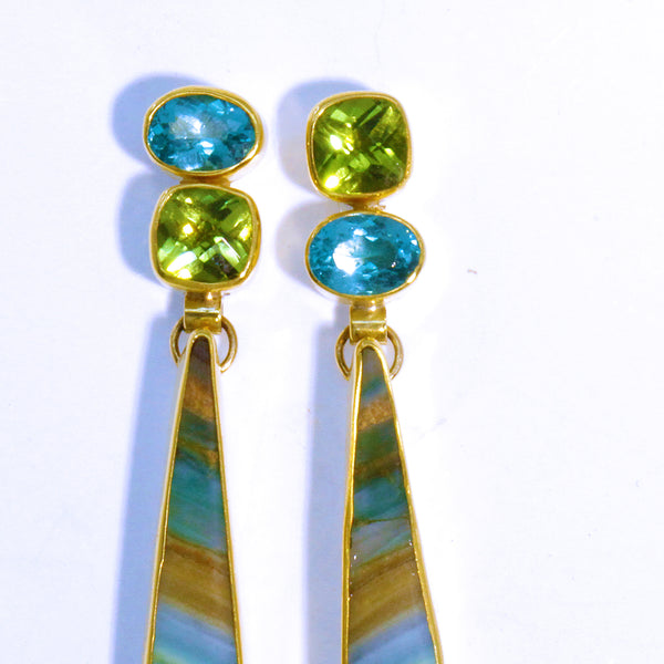 petrified-wood-apatite-peridot-earring-kalled