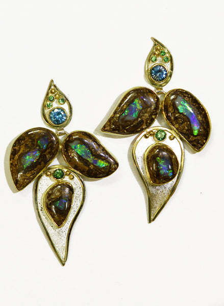 Boulder-opal-take-it-or-leaf-it-earrings-kalled-gold