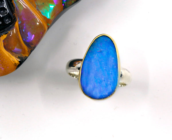boulder-opal-ring-22k-gold-sterling-silver-band