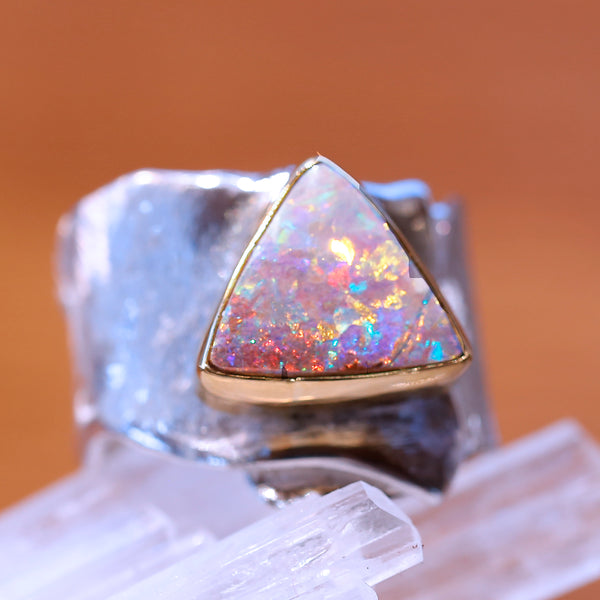 boulder-opal-silver-gold-wide-ring-kalled