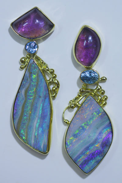 Boulder Opal Earrings Great Guana Cay Series