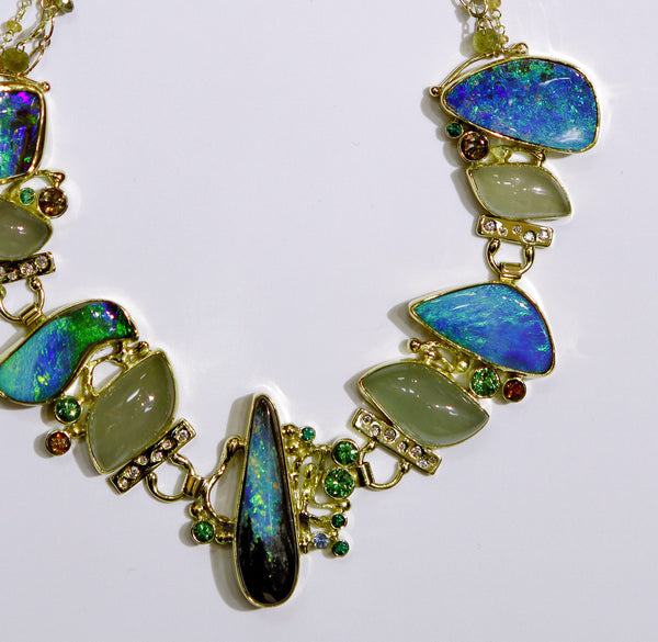 "Boulder Opal Necklace ""If There Were Angels"""