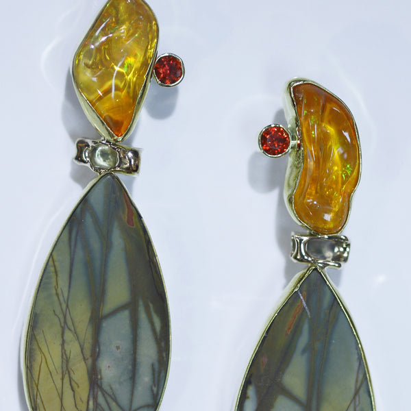 Mexican Opal Earrings