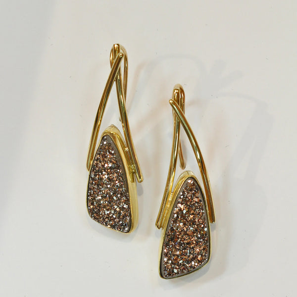 Santorini Earring with Moonbeam Drusy