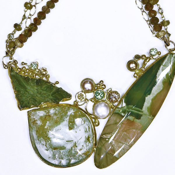 imperial-jasper-moldavite-pearl-lemon-quartz-tsavorite-zircon-kalled-gold-necklace