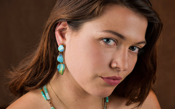 Jennifer Kalled Opal Earrings